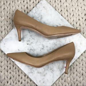 Via Spiga Nikole Pointed Toe Nude Leather Heels